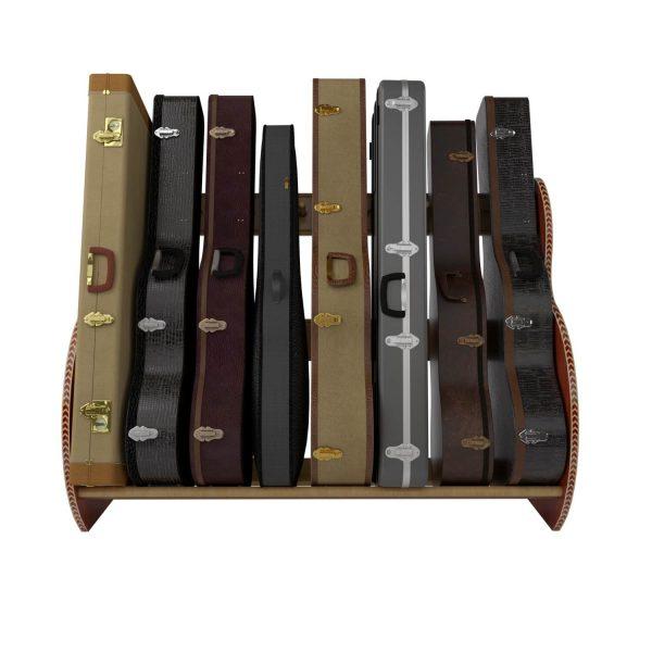 mahogany studio guitar case rack
