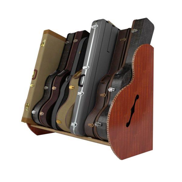 mahogany studio guitar case storage
