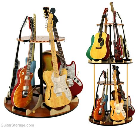 Carousel™ Rotating Multiple Guitar Stand