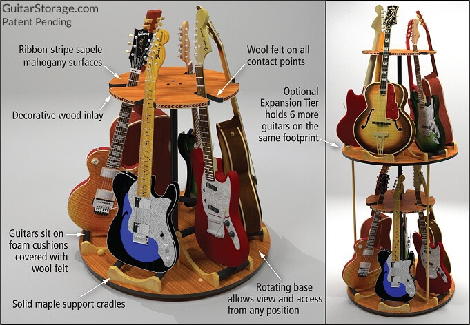Multi Guitar Stand Wood