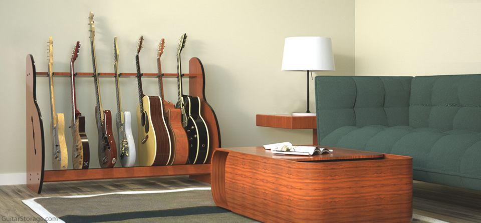 7 guitar rack