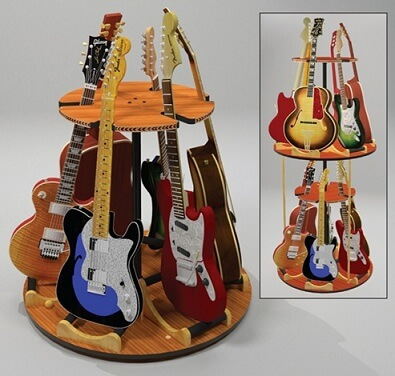 New Carousel Deluxe Multiple Guitar Stand Press Release