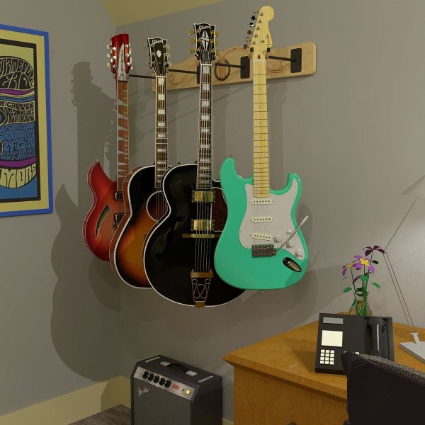 profile guitar hanger with stratocaster