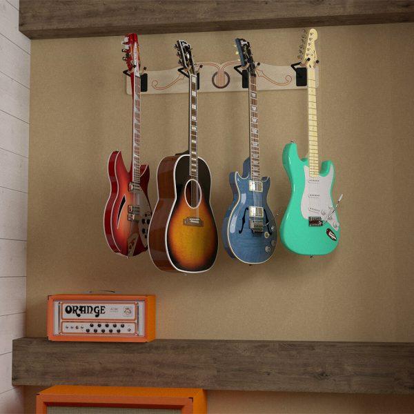 profile multi guitar wall hanger