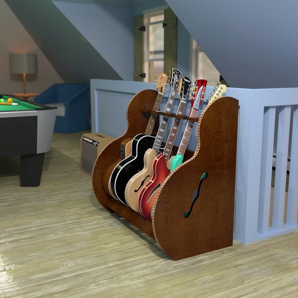 session guitar stand in attic