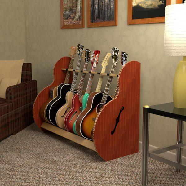 session mahogany 7 guitar stand