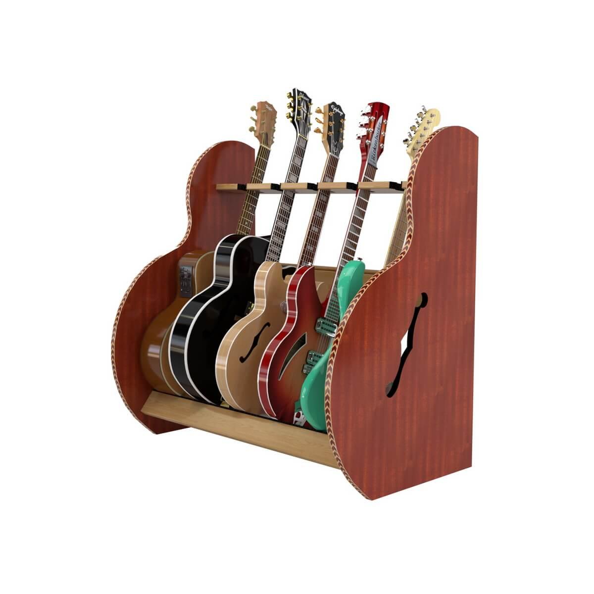 5 Instrument Stand Mahogany Sides & Red Oak Rails