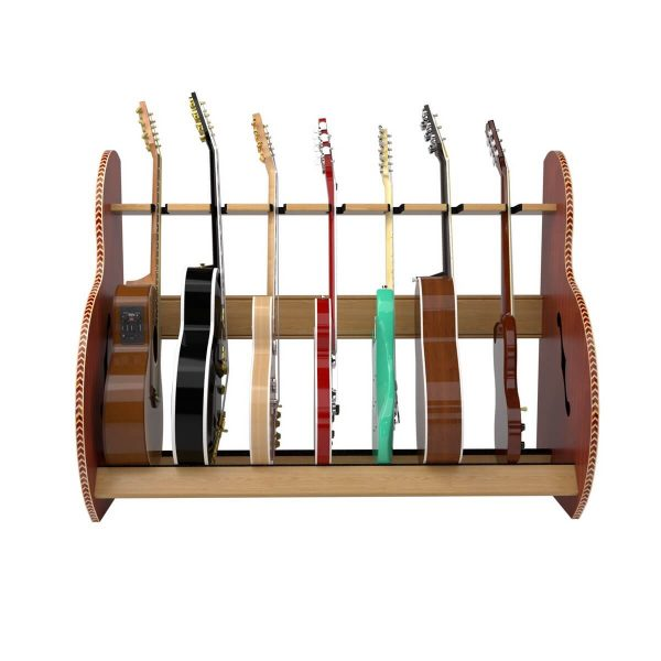 session mahogany multi guitar stand front