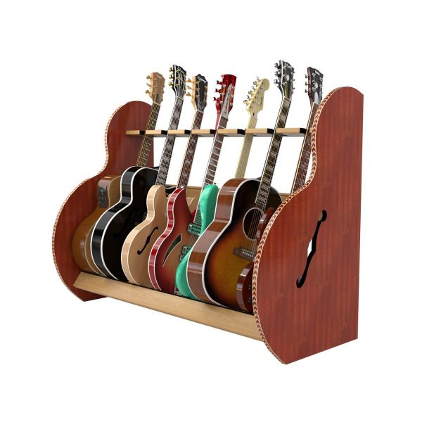 session mahogany seven guitar stand