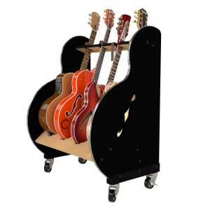session pro four guitar stand side view