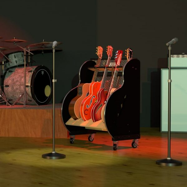 session pro rolling guitar stand for stage