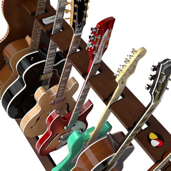 session walnut five guitar neck holder