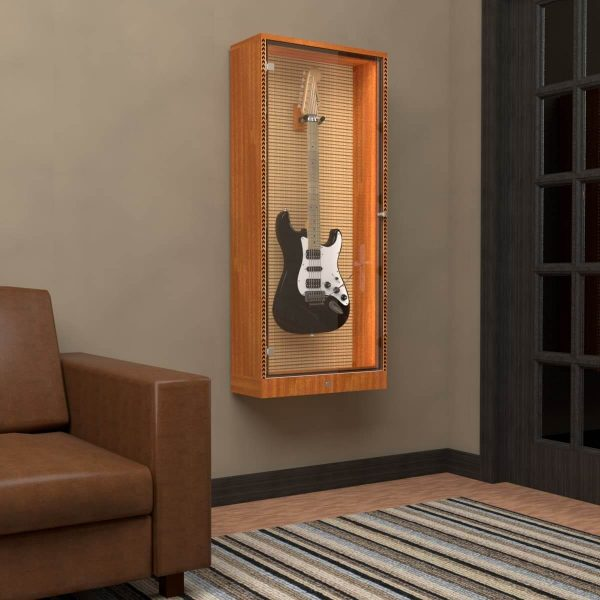 showcase guitar display cabinet