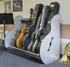 Band Room Guitar Storage Rack