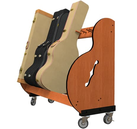 Studio Standard Guitar Case Stand with Wheel Kit