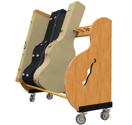 Studio Deluxe Guitar Case Racks with Wheel Kit