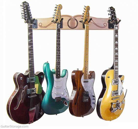 Wall Mount Guitar Display Rack