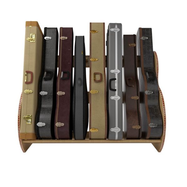 studio deluxe red oak guitar case storage front