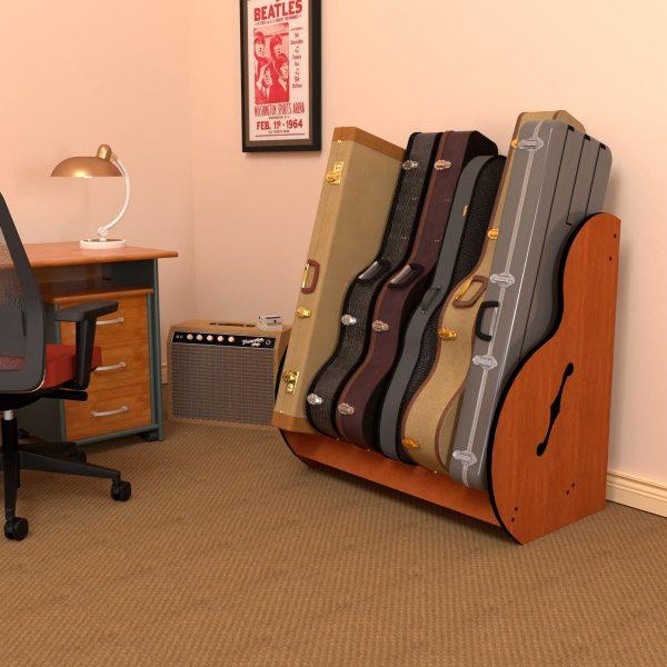 studio guitar stand with rectangular case