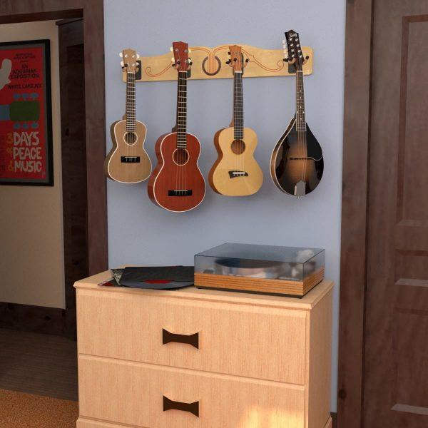 ukulele and mandolin wall hanger